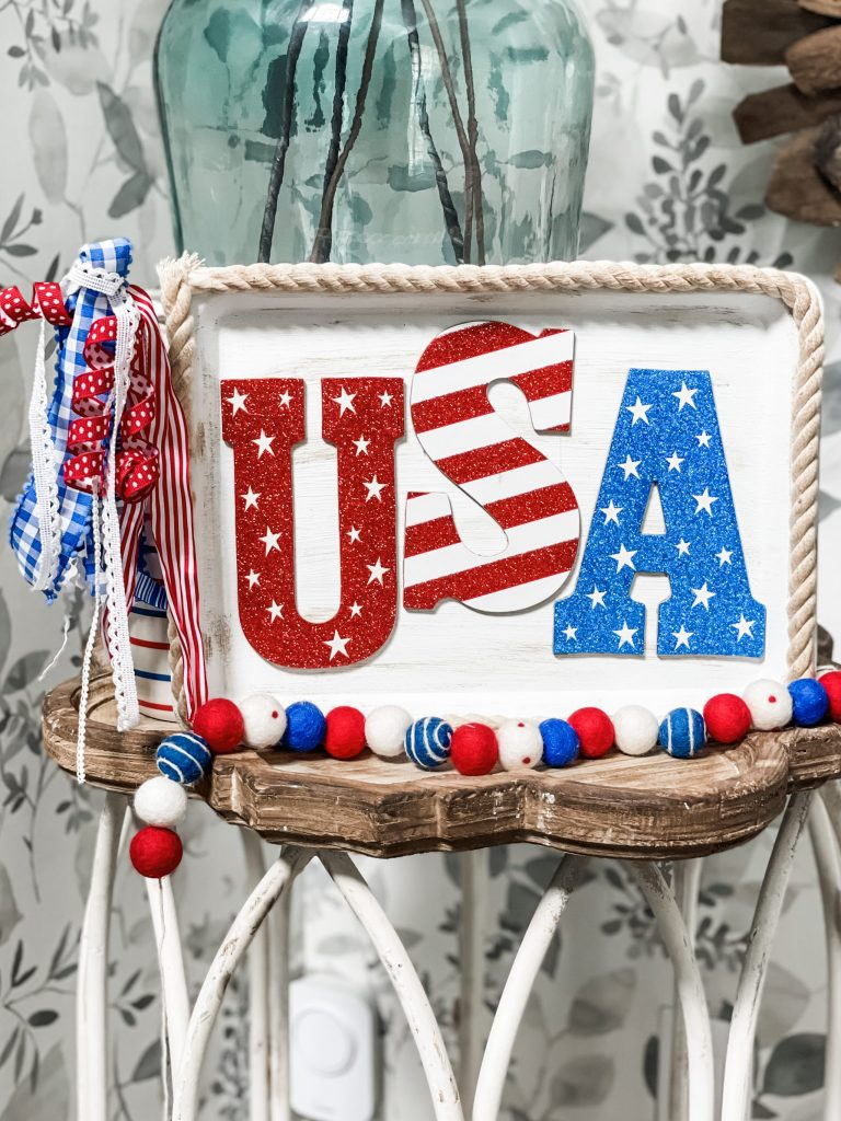 how to make a USA sign from the dollar tree
