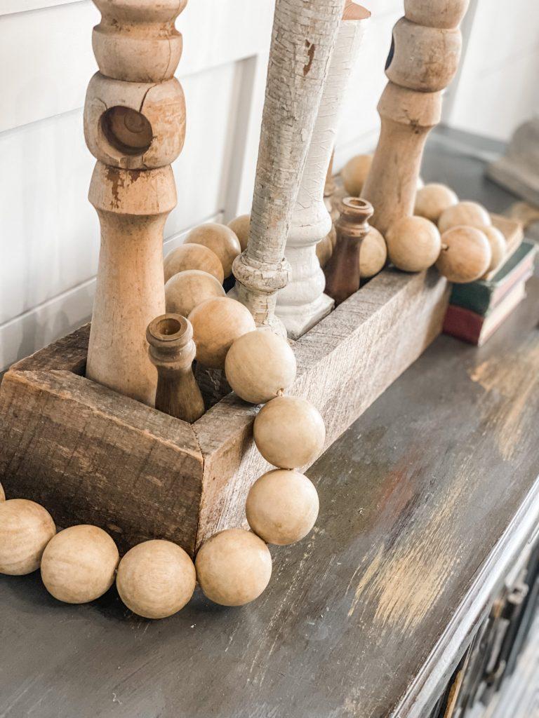 large wooden bead garland from kirklands