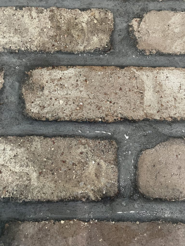how to clean brick flooring - cleaning vinegar, bucket, hot water, mop, scrubber brush AFTER