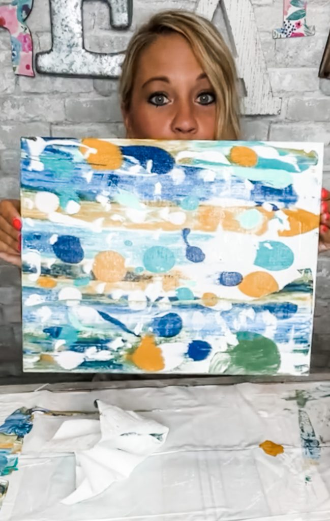 easy abstract painting tutorial for beginners
