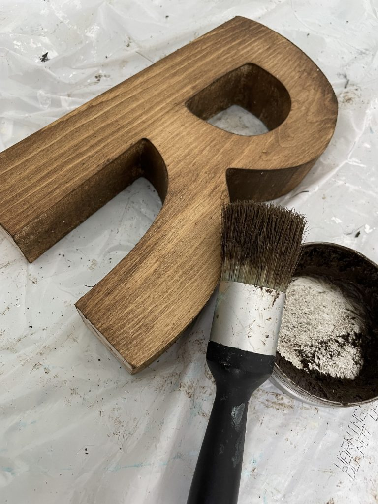 stain your wooden letter