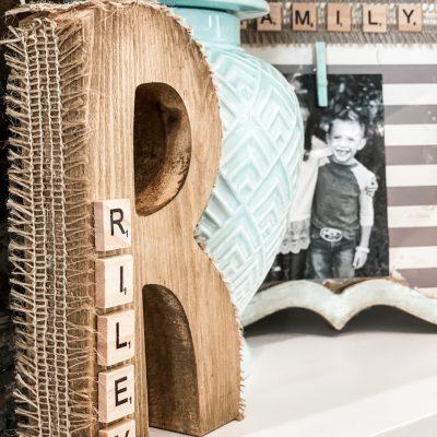 scrabble wooden letter decor