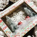 diy Christmas scene shadow box