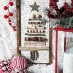 diy Christmas Tree sign using random pieces