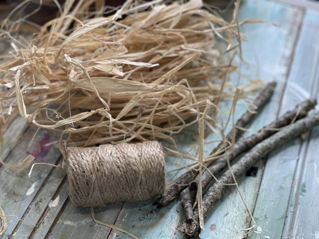 supplies needed for dollar tree witches broom