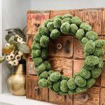 dollar store moss ball wreath