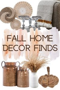 pinterest image for fall home decor finds