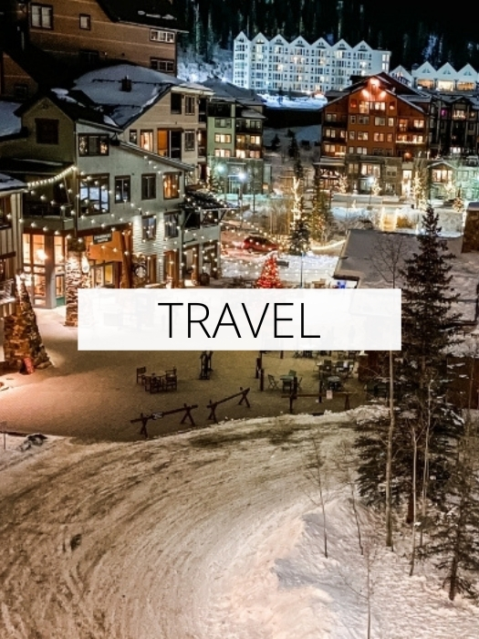 winter in a ski resort during Christmas