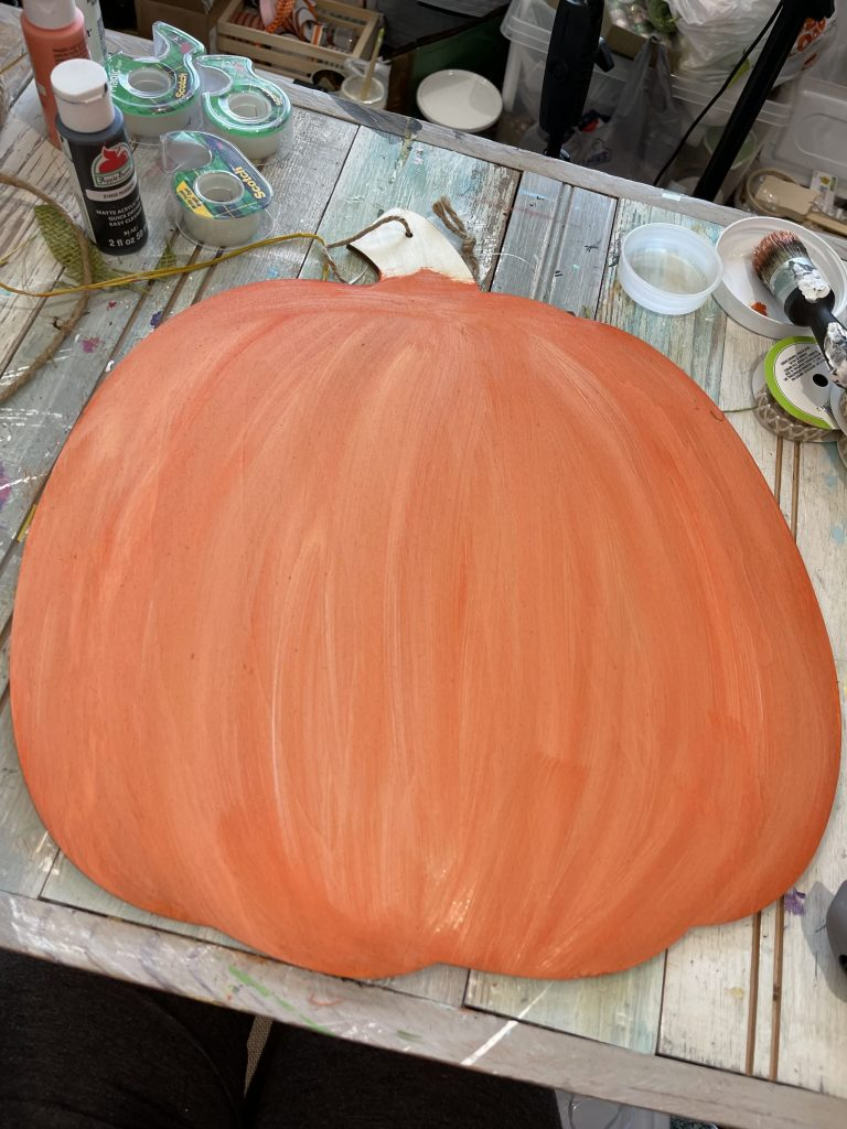 pumpkin after paints are fully blended