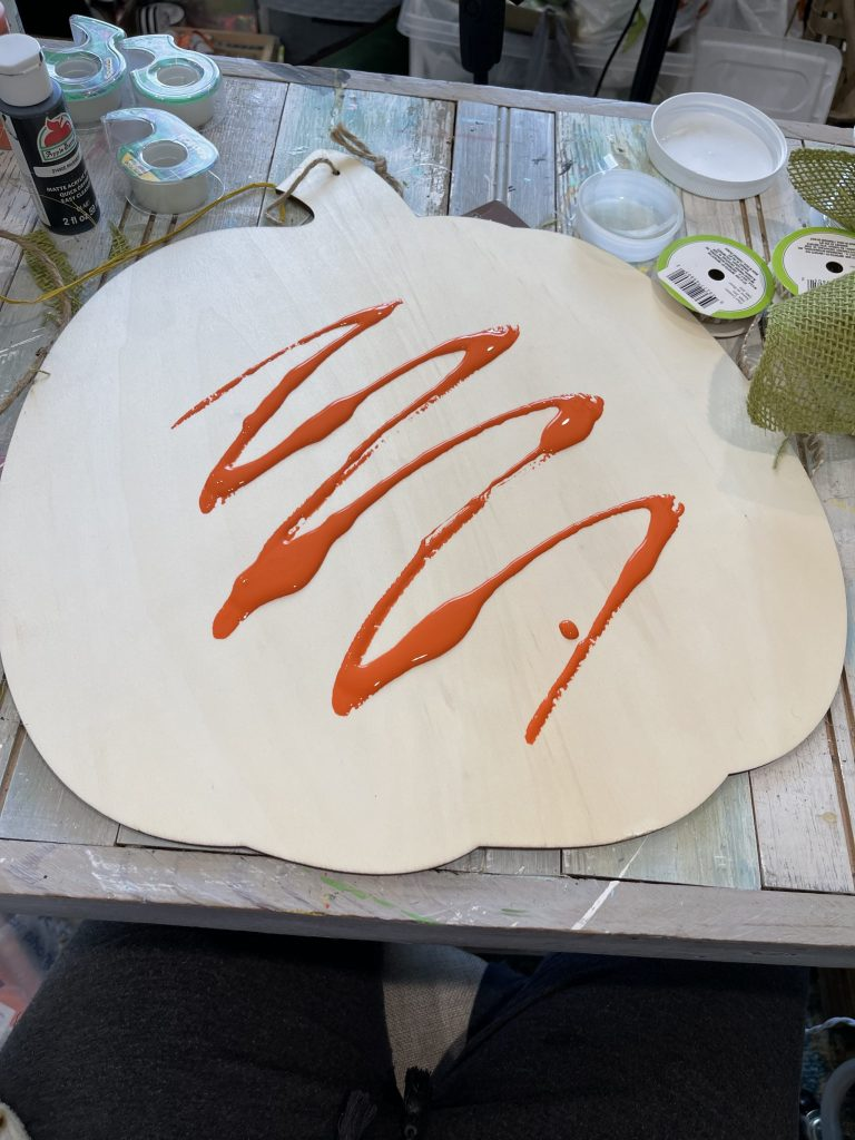 paint your pumpkin sign orange