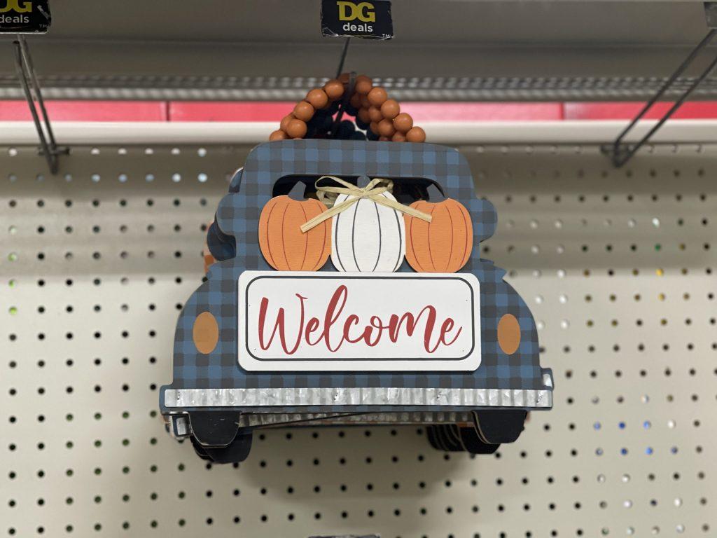 pumpkin truck sign