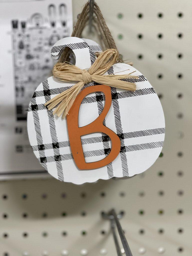 pumpkin letter sign
