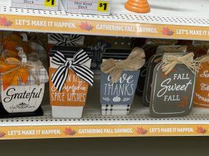 miniature fall coffee signs