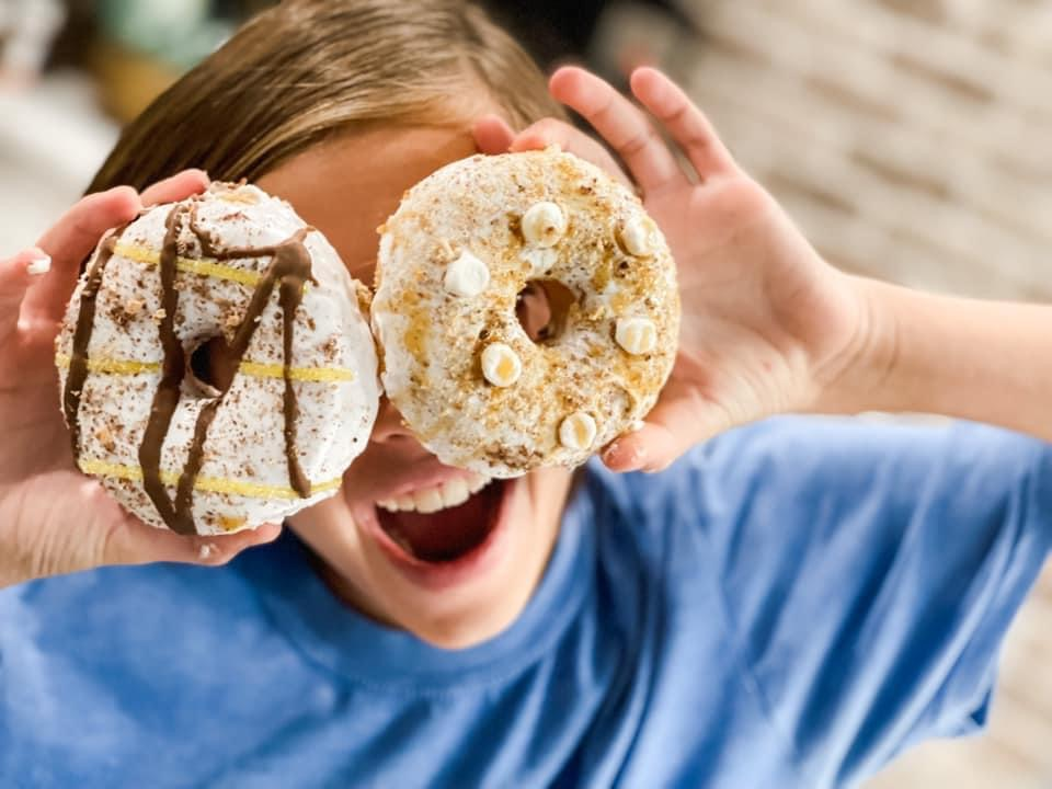 donuts decorated from the donut bar