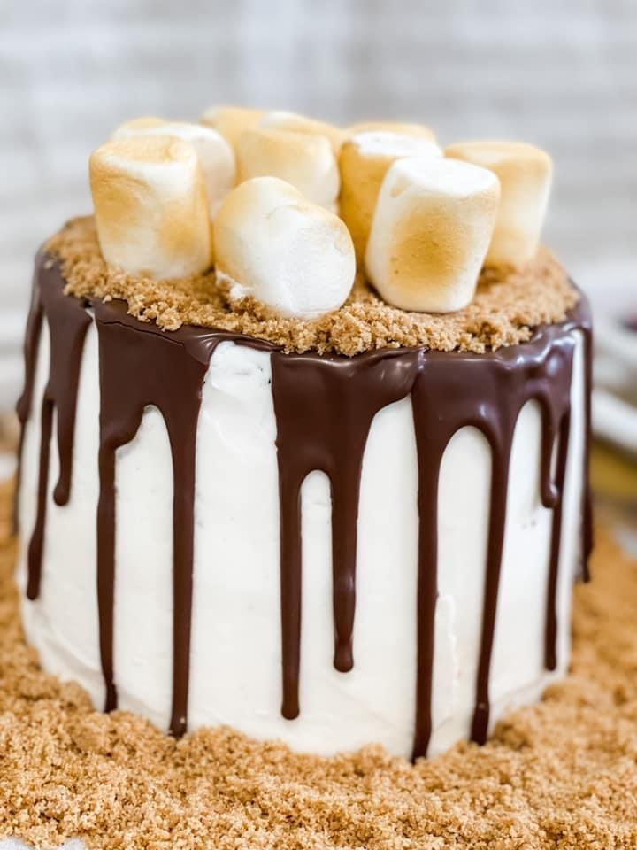 smores birthday cake