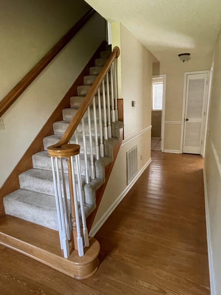 stairwell/hallway before