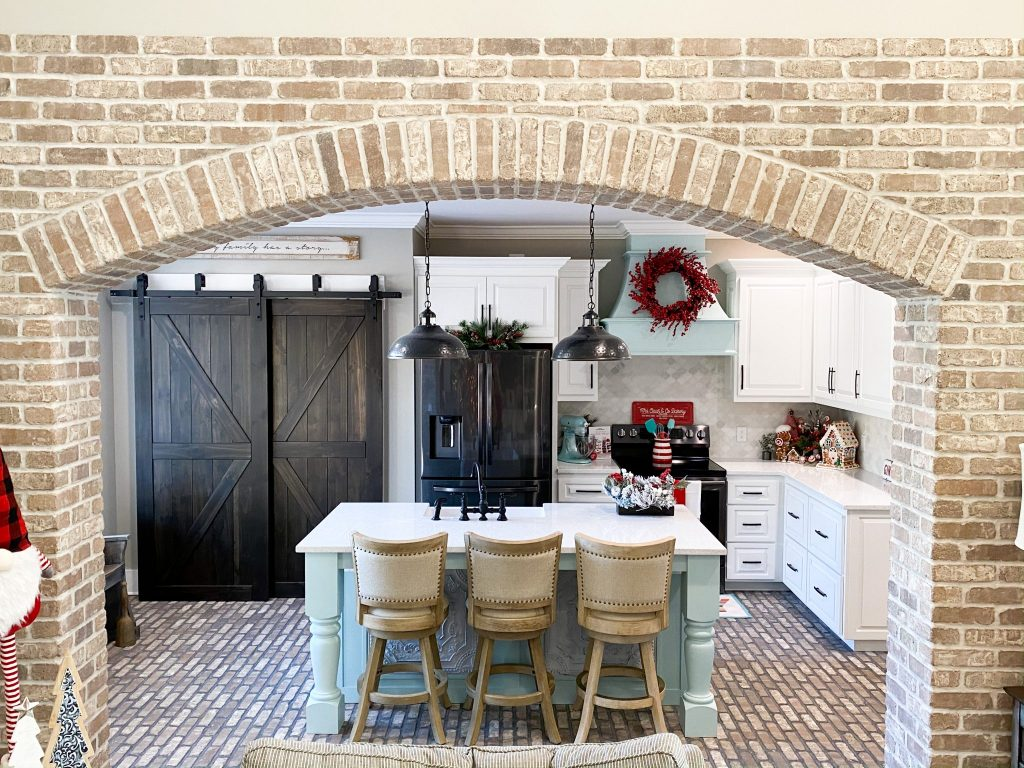 brick flooring and brick archway by old mill brick