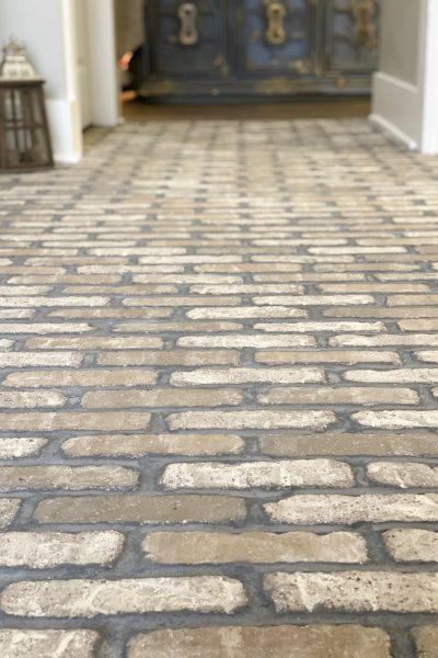 brick web flooring in entryway