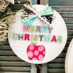 Colorful Merry Christmas Door Hanger for Teachers