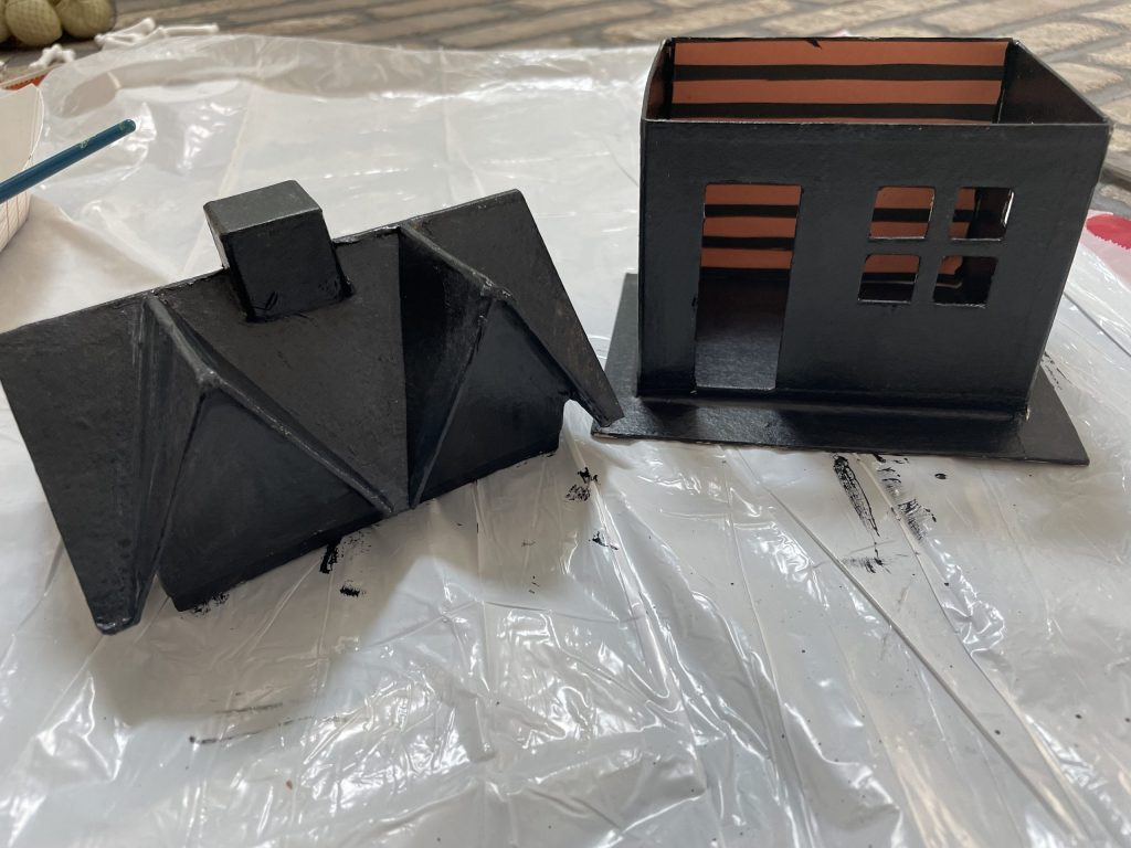 don't forget to paint the roof black