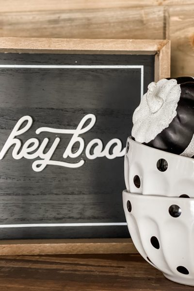 Hey Boo sign from Kirklands