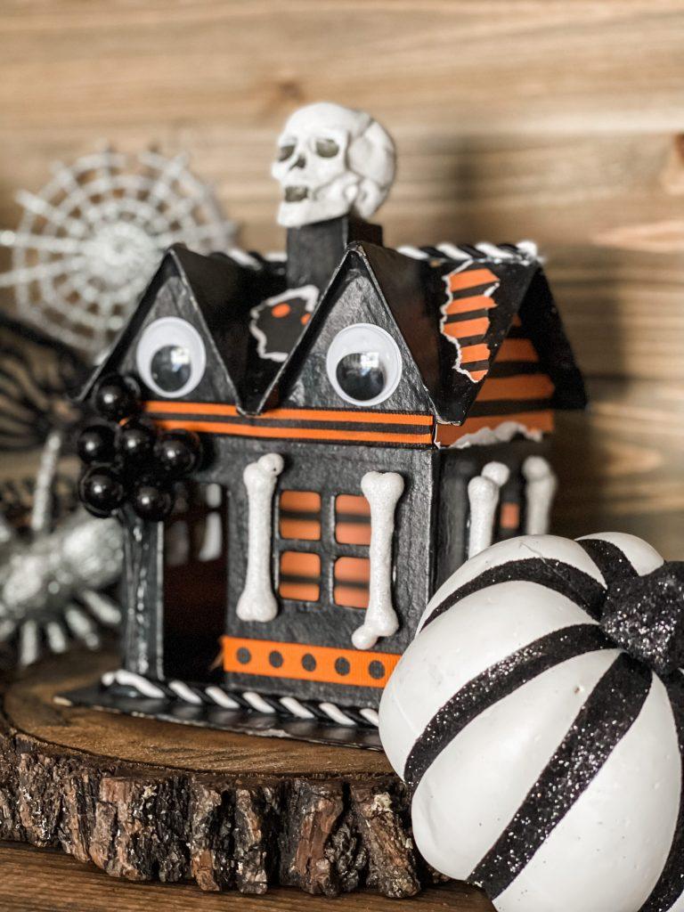 diy haunted house on coffee bar