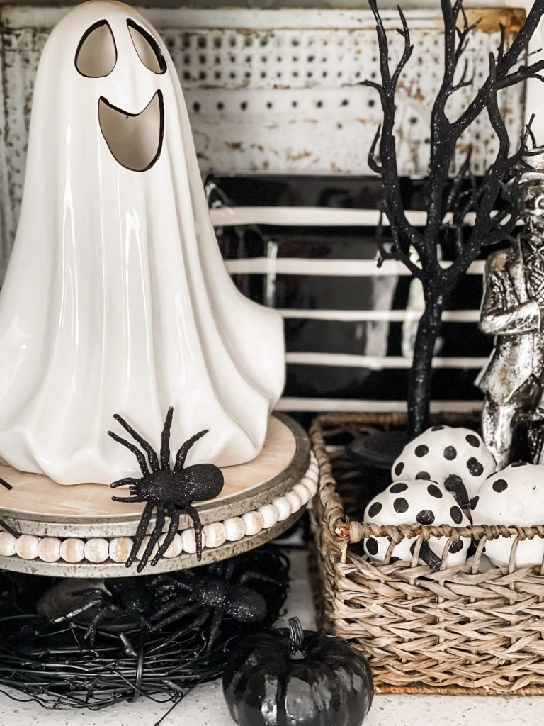 halloween decor in the kitchen